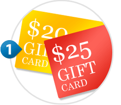 Select Printable Gift Card amount from $10 to $300